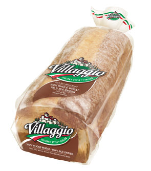 Villaggio® 100% Whole Wheat Thick Sliced Italian Style Bread
