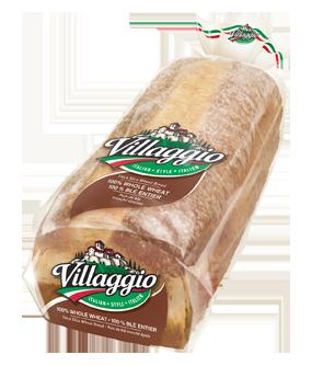 Villaggio® 100% Whole Wheat Thick Sliced Italian Style Bread