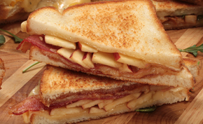Smoky Bacon and Apple Grilled Cheese Sandwich