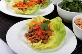 Asian-Chicken Lettuce Wraps